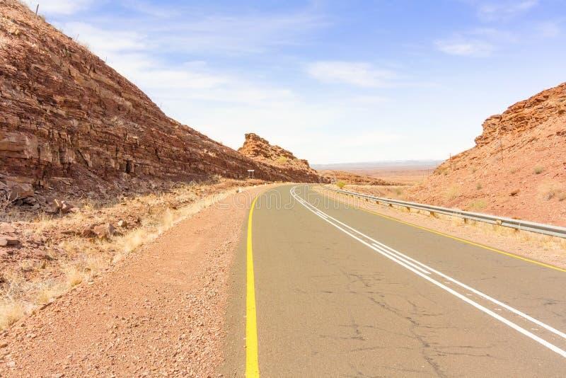 Ajardine en el camino cerca de Seeheim en Namibia imágenes de archivo libres de regalías