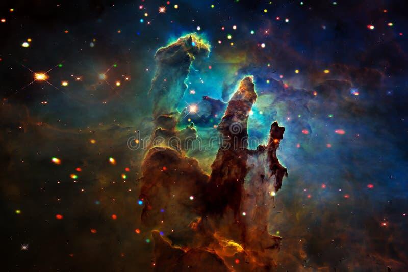 Ajardine en el planeta extranjero de la fantasía con el fondo de la galaxia fotografía de archivo libre de regalías