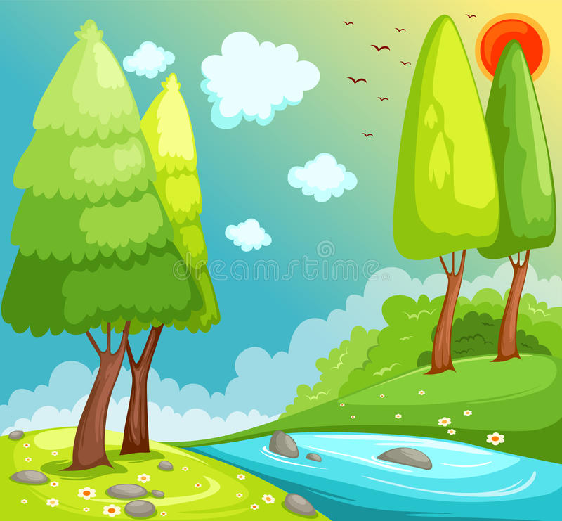 Ajardine la selva stock de ilustración