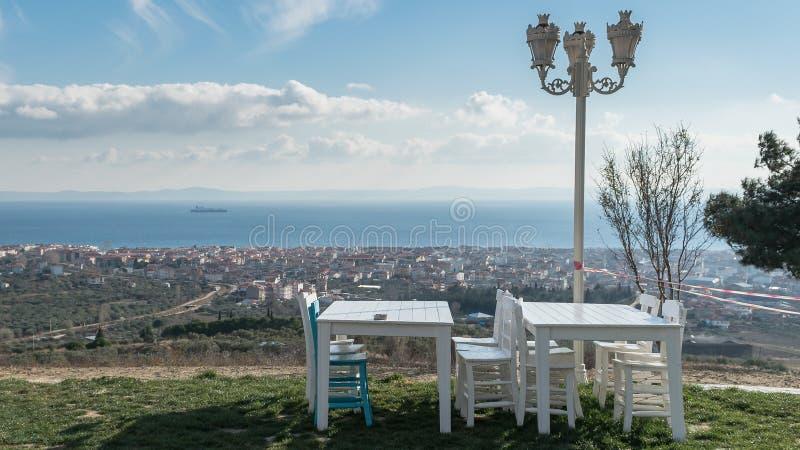 Ajardine la vista de la ciudad de Tekirdag en Turquía fotos de archivo