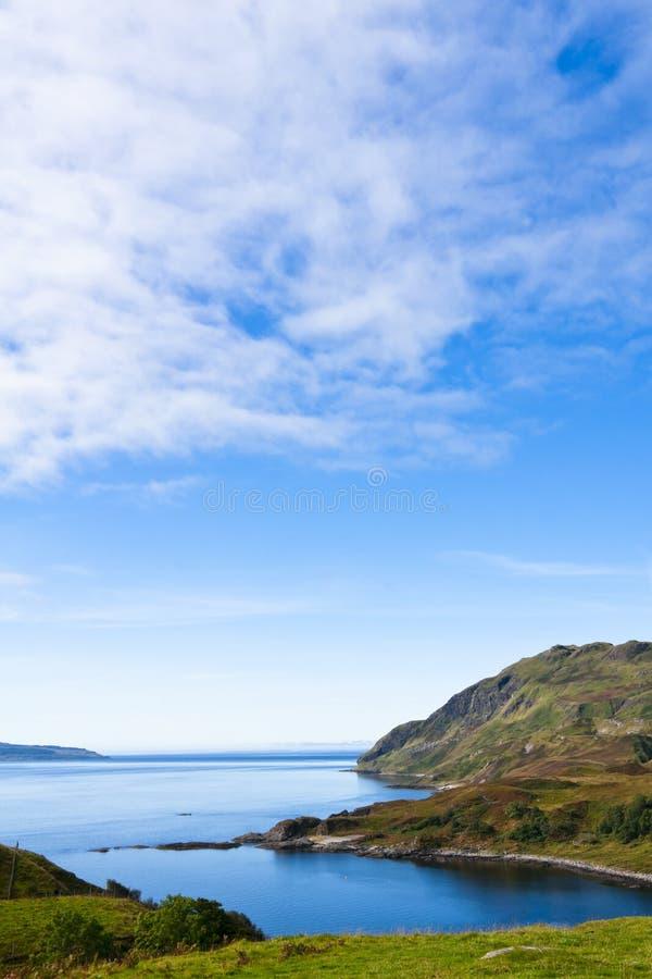 Ajardine, Loch Sunart Ardnamurchan do nariz do `s de Maclean fotografia de stock