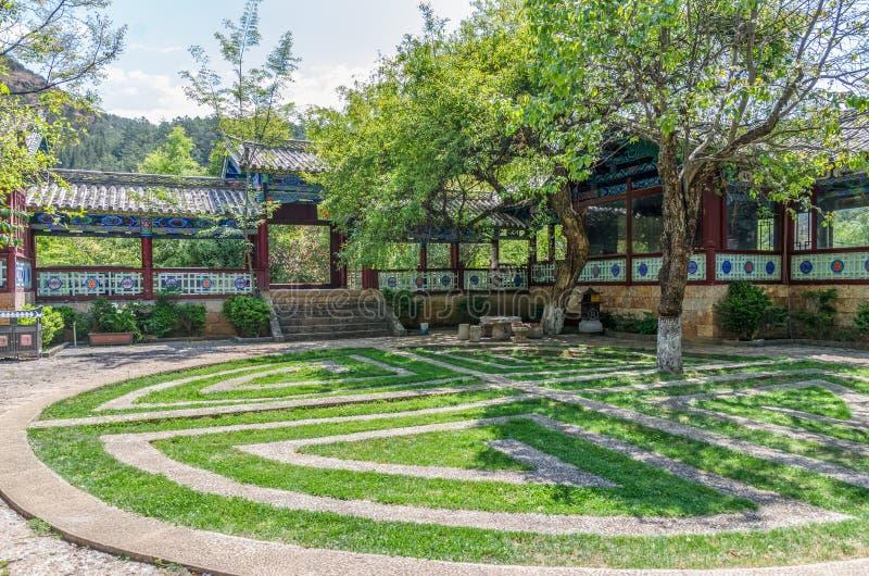 Ajardine a opinião Jade Spring Park, igualmente nomeada parque de Heilongtan, ele é ficado situado no pé do monte do elefante, Li foto de stock royalty free