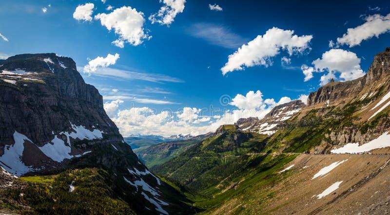 Ajardine a vista no parque nacional de geleira em Logan Pass foto de stock royalty free