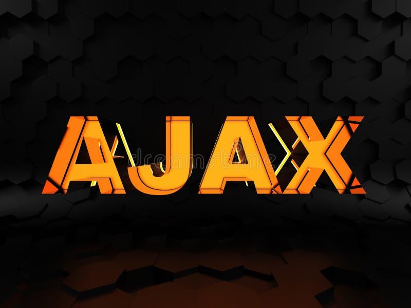 Ajax - asynchrone JavaScript en XML royalty-vrije illustratie