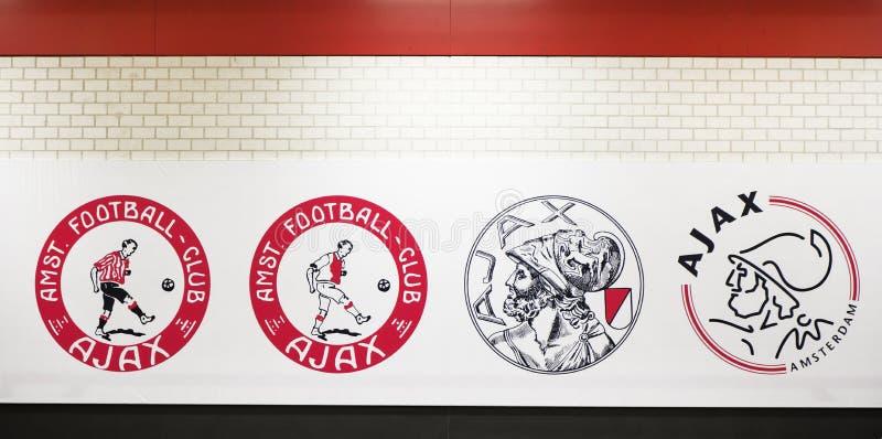 Ajax Emblem History foto de stock