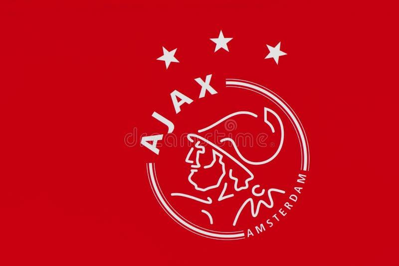 Ajax Football Club Emblem imagens de stock royalty free