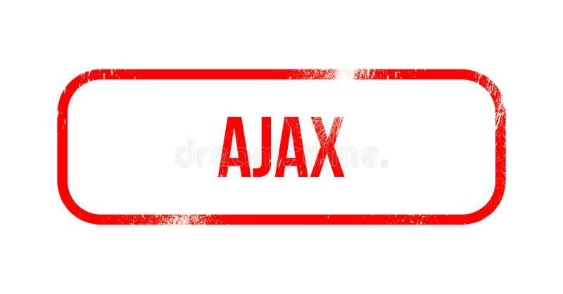 Ajax - rood grungerubber, zegel royalty-vrije illustratie