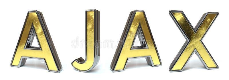 Ajax a testo dorato illustrazione di stock