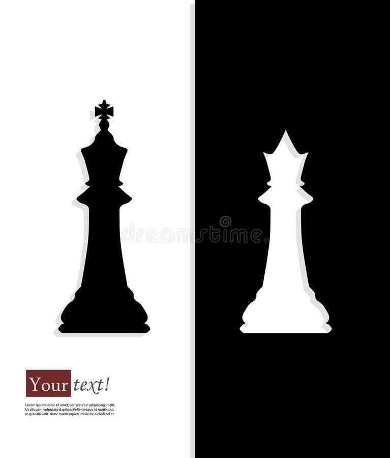 Ajedrez de la reina del rey libre illustration