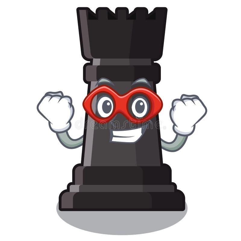 Ajedrez del grajo del superhéroe aislado en la mascota libre illustration