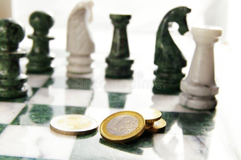 Ajedrez euro imagen de archivo libre de regalías