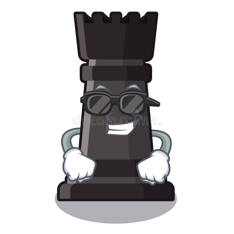 Ajedrez fresco estupendo del grajo aislado en la mascota ilustración del vector