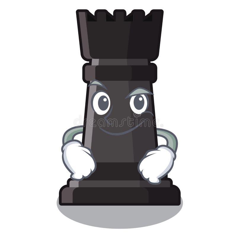 Ajedrez Smirking del grajo aislado en la mascota stock de ilustración