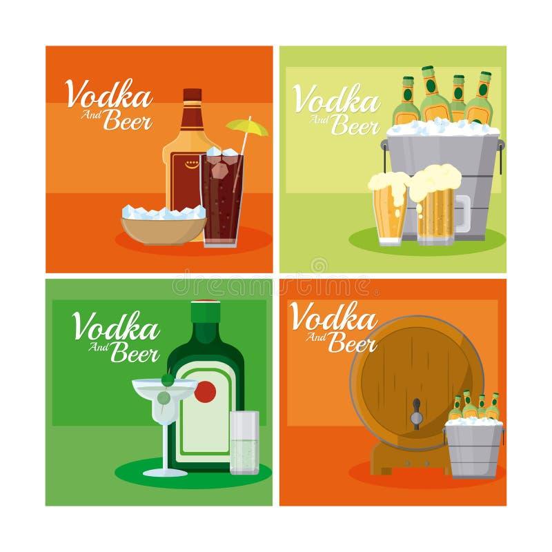 Ajerówka i piwa royalty ilustracja