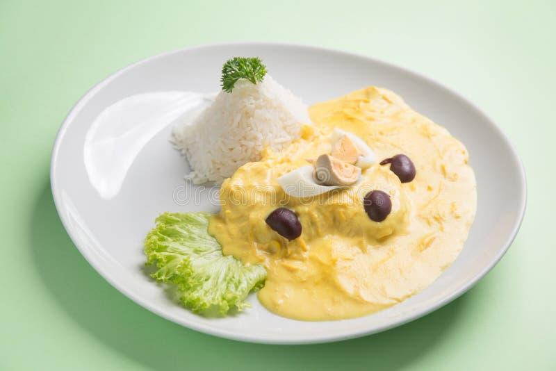Aji de Gallina, comida peruana tradicional imágenes de archivo libres de regalías