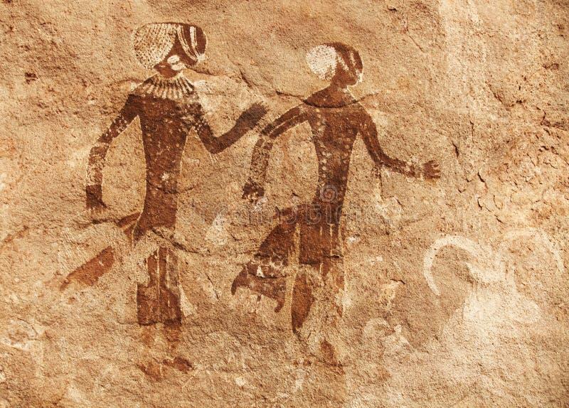 ajjer tassili βράχου έργων ζωγραφική&sig στοκ φωτογραφία με δικαίωμα ελεύθερης χρήσης