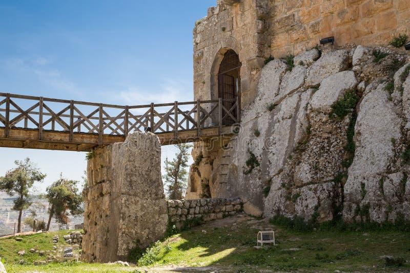 Ajloun ayyubid城堡在北约旦,修造在12世纪,中东 免版税图库摄影