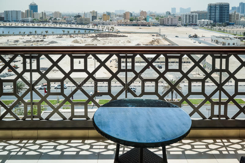 Ajman. August 2016. The view from the room at Ajman stock photos