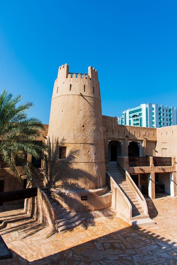 Ajman, Emirati Arabi Uniti - 6 dicembre 2018: Sho del museo di Ajman fotografie stock libere da diritti