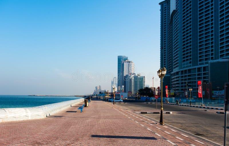 Ajman, Emirats Arabes Unis - 6 décembre 2018 : Ajman Corniche B photographie stock