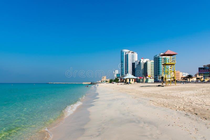 Ajman, Emirats Arabes Unis - 6 décembre 2018 : Ajman Corniche B images libres de droits