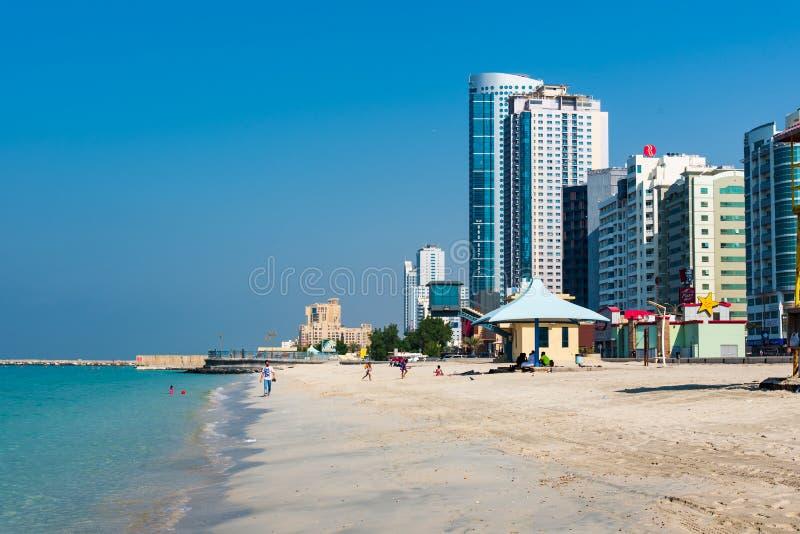 Ajman, Emirats Arabes Unis - 6 décembre 2018 : Ajman Corniche B image stock