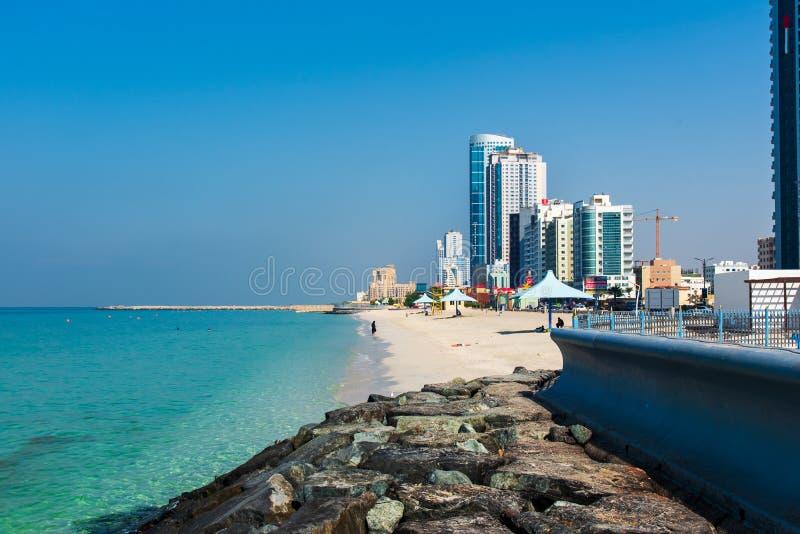 Ajman, Emirats Arabes Unis - 6 décembre 2018 : Ajman Corniche B image libre de droits