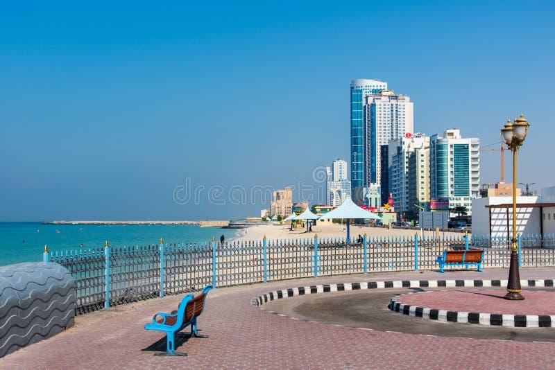 Ajman, Emirats Arabes Unis - 6 décembre 2018 : Ajman Corniche B photo libre de droits