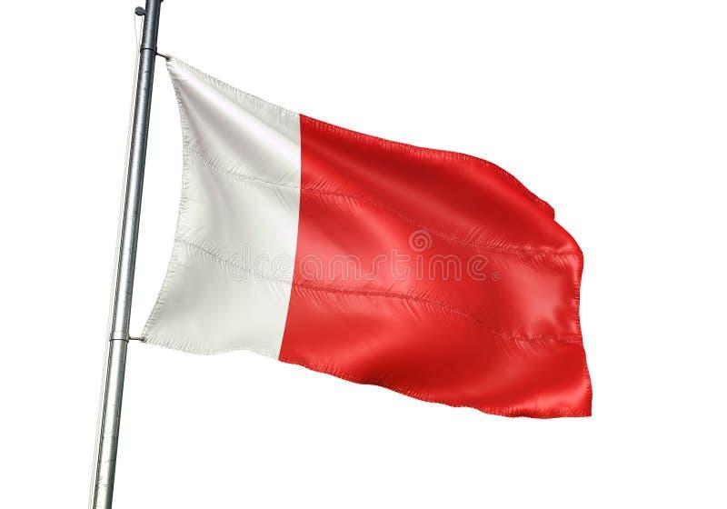 Ajman en van Doubai het nationale vlag golven geïsoleerd op witte realistische 3d illustratie als achtergrond vector illustratie