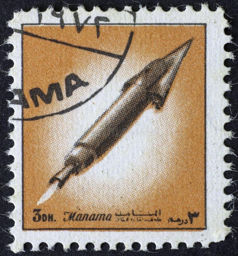 AJMAN/MANAMA - CIRCA 1972: Storia di spazio fotografia stock