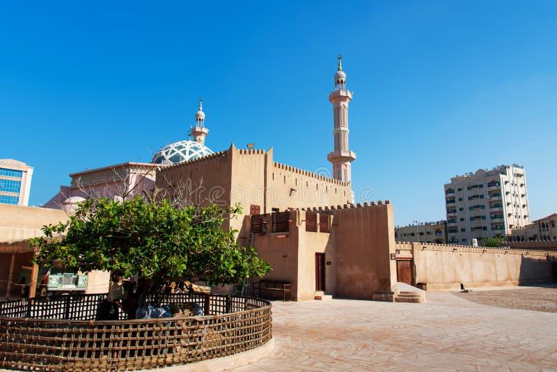 Ajman, Verenigde Arabische Emiraten - 6 December, 2018: Sho van het Ajmanmuseum stock foto