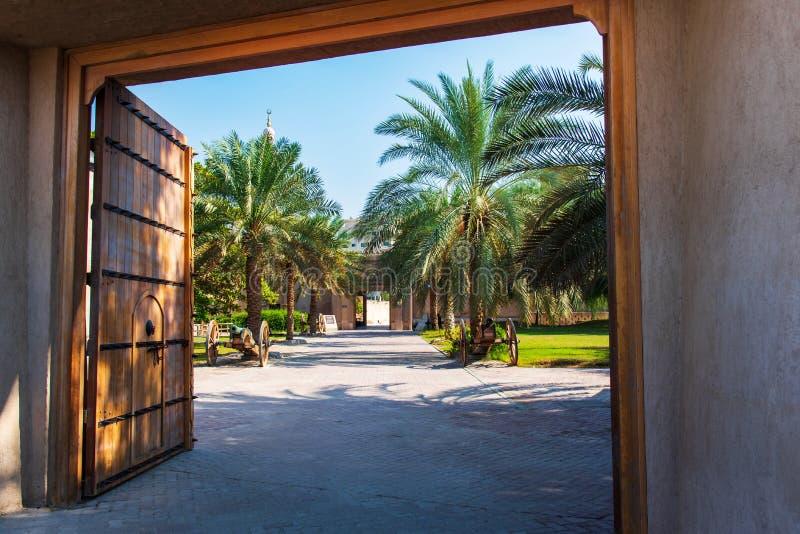 Ajman, Verenigde Arabische Emiraten - 6 December, 2018: Sho van het Ajmanmuseum royalty-vrije stock foto's