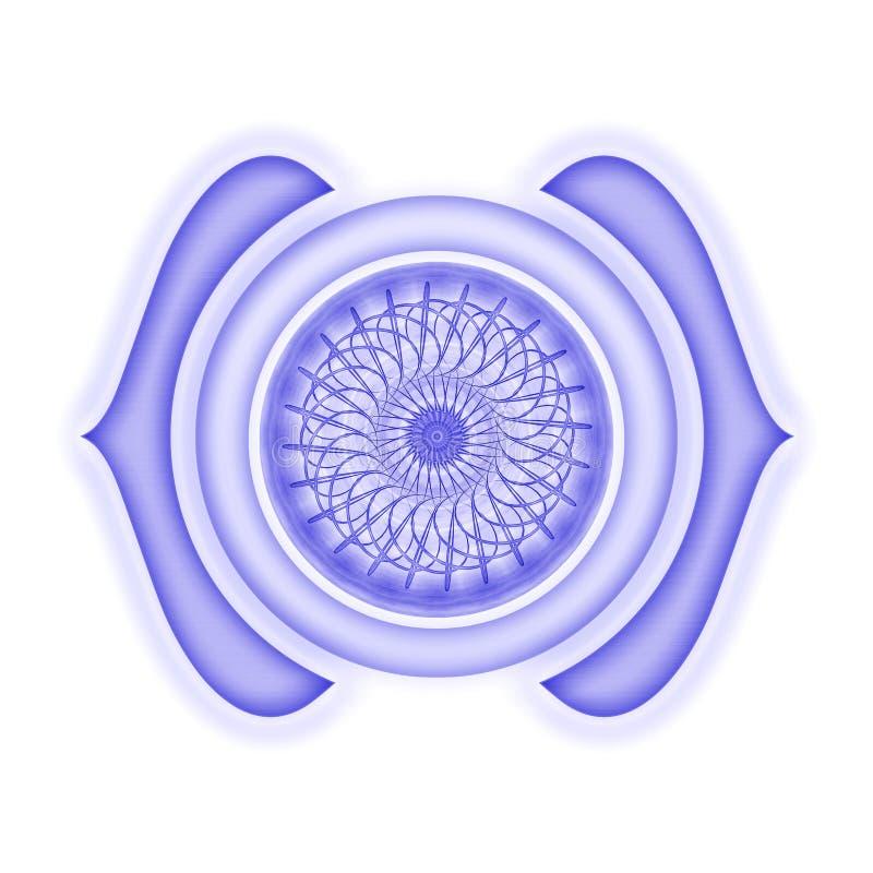 Ajna Chakra a isolé illustration de vecteur
