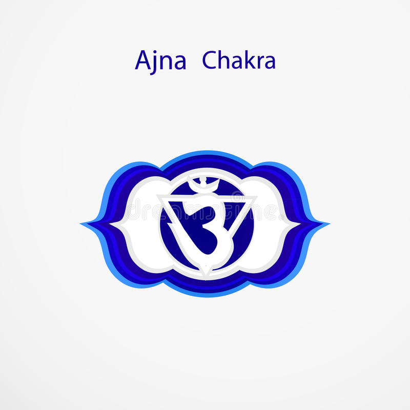 Ajna Chakra Stock Vector Illustration Of Buddhism Blue 48067535