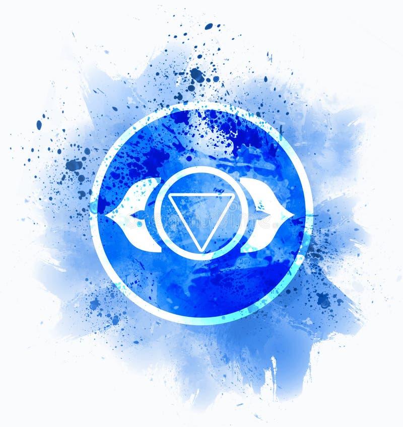 Ajna chakra symbol royalty free illustration