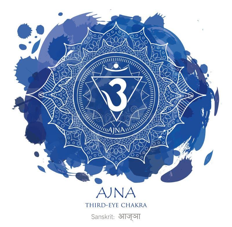 Ajna chakra vector royalty free stock image