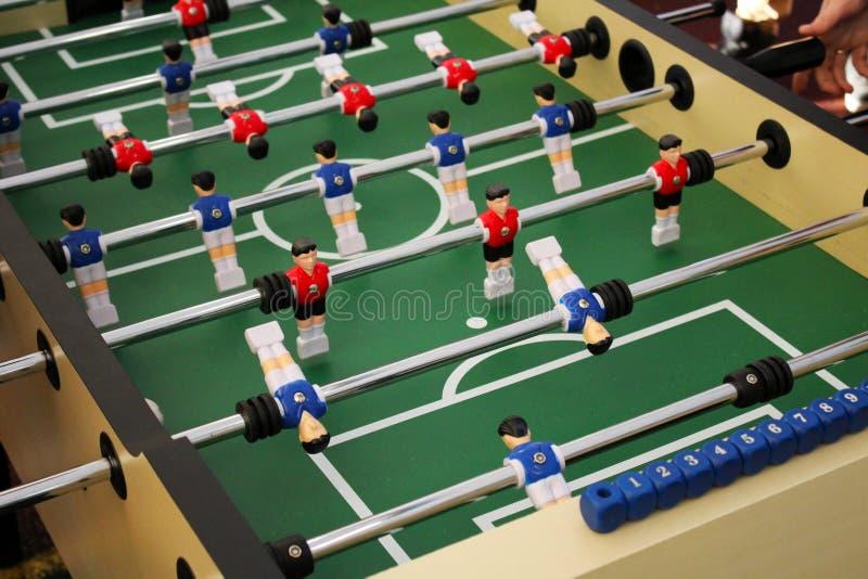 Ajournez le jeu de football de foosball du football, aka le joueur images libres de droits