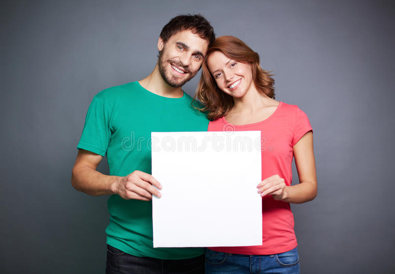 Ajouter au papier blanc photos stock