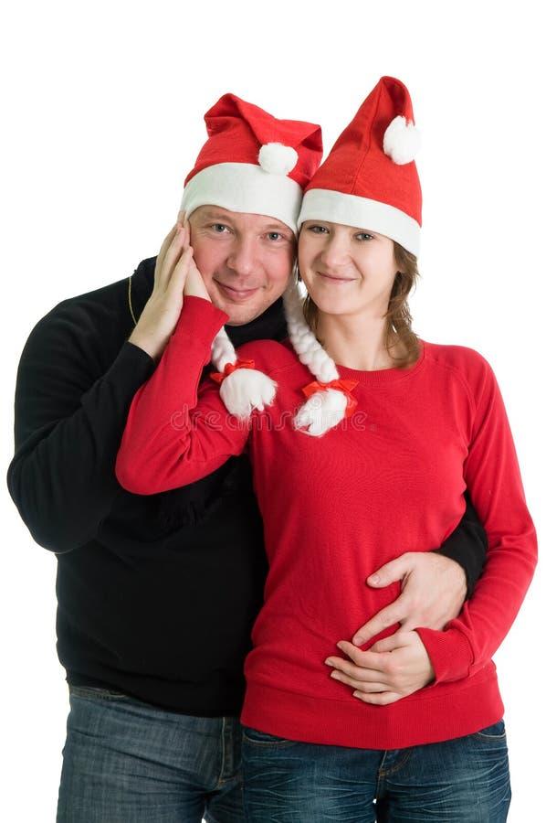 Ajouter aux chapeaux de Santa image stock