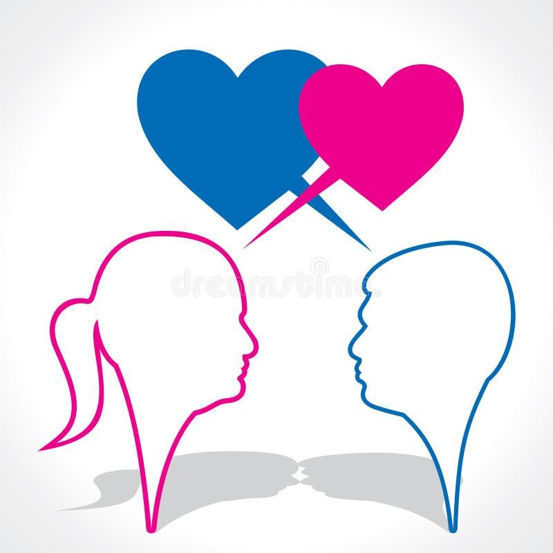 Ajouter d'amant à la bulle de message de forme de coeur illustration de vecteur