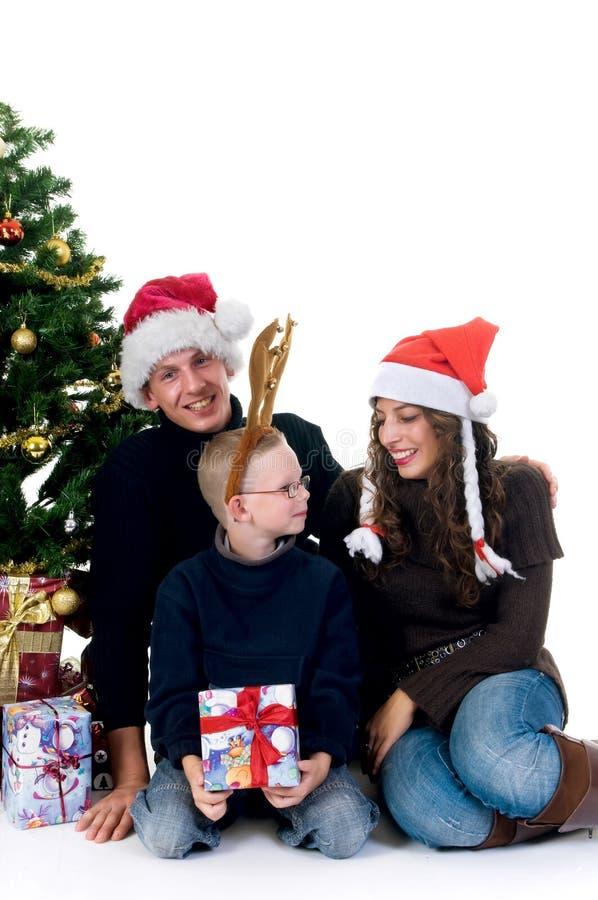 Ajouter de Noël à l'enfant photo stock