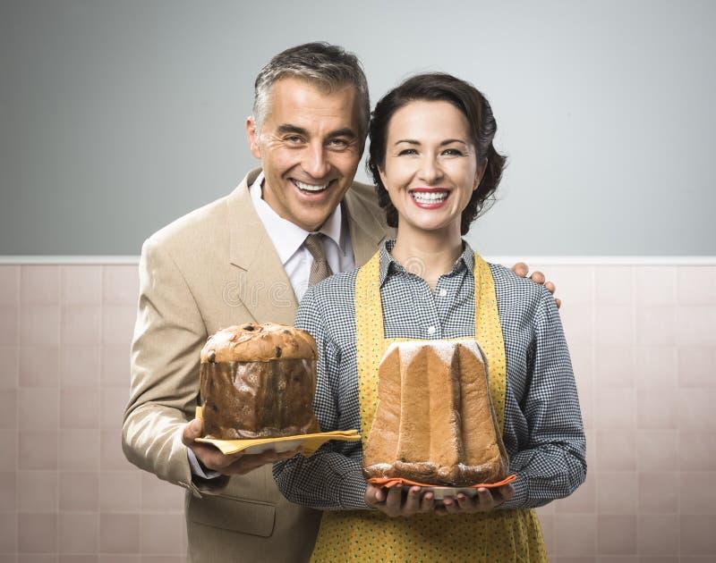 Ajouter de sourire de vintage aux gâteaux image libre de droits