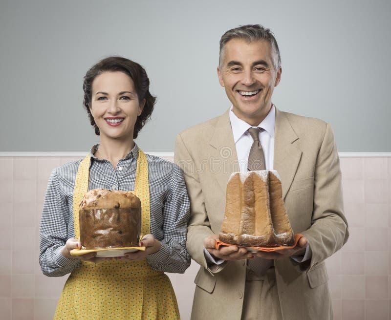 Ajouter de sourire de vintage aux gâteaux images libres de droits
