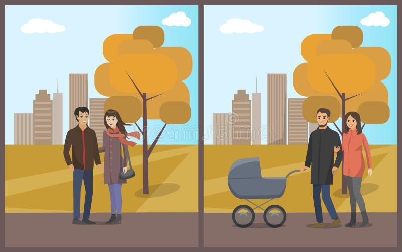 Ajouter et père de famille et femme au vecteur d'enfant illustration de vecteur