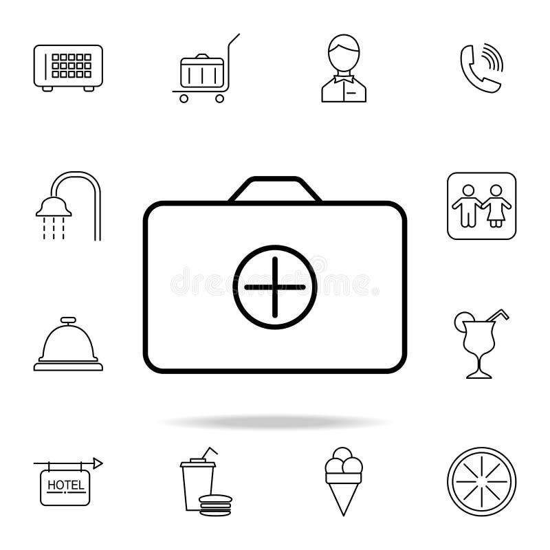 ajouter une icône de dossier Élément d'icône simple pour des sites Web, web design, APP mobile, graphiques d'infos Ligne mince ic illustration de vecteur