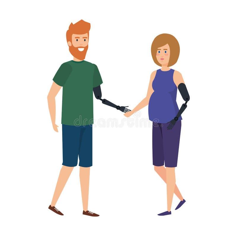 Ajoutez à la prothèse de bras illustration stock