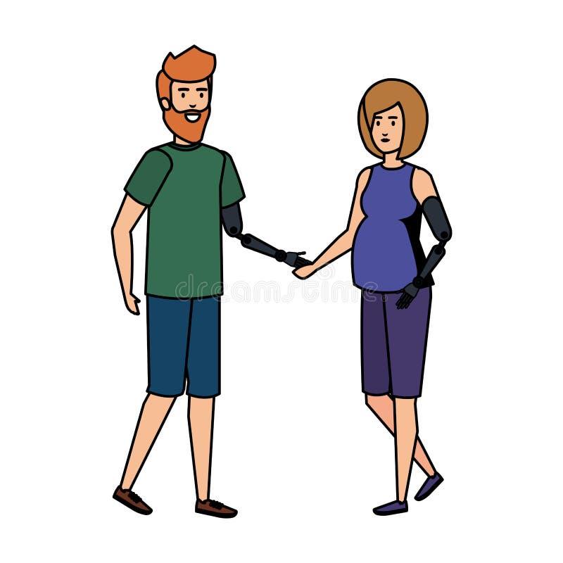 Ajoutez à la prothèse de bras illustration de vecteur