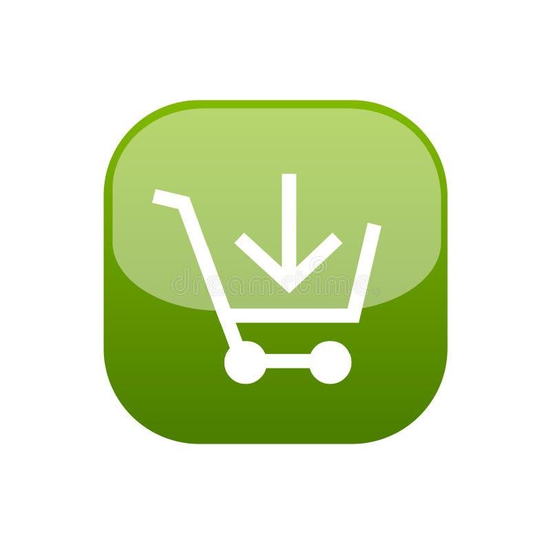 Ajoutez au bouton de Web de chariot illustration de vecteur