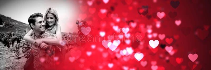 Ajoutez donner sur le dos aux coeurs de transition d'amour du ` s de valentine images libres de droits
