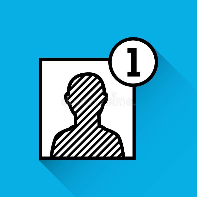 Ajoutez l'icône de personne de contact illustration stock